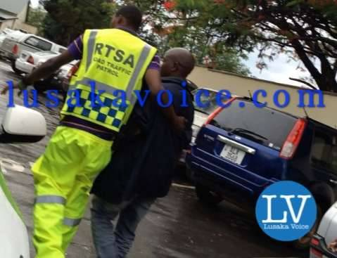 RATSA Director Soko beats Ideal Funeral Home Driver at cfb Hospital in Lusaka  onDec 13, 2014 by Lusakavoice.com