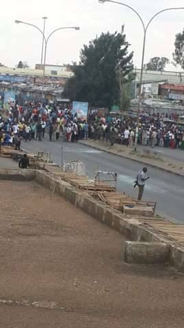 Police in riot gear in Central Lusaka - Someone sent me these photos just now from Lusaka