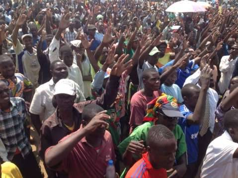 UPND Mazabuka rally addressed by veep Kapita, hon Nkombo and others
