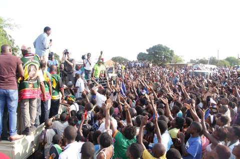 UPND HH Zambia United tour in Livingstone.