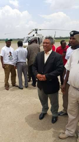 Hon.Given Lubinda arrives with Hon Stephen Kampyongo ahead of PF President Edgar Lungu at Simon Mwansa Kapwepwe International Airport