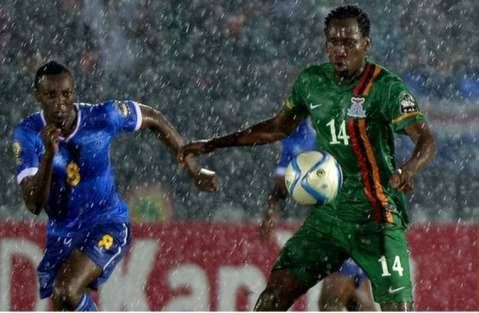 Cape Verde and Zambia both bowed out of the African Cup of Nations after a game which at one point looked as though it would stop because of torrential rain.