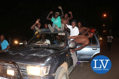Lusaka residents do take the streets celebration the election of Edgar Lungu as the Zambia 6th president - Photo Credit - Jean Mandela