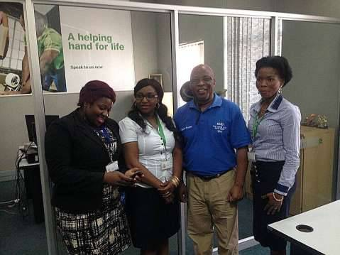 Nevers Mumba With Stanchart members of staff in Chingola