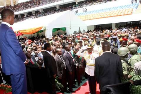 President Edgar Lungu during his Inauguration Ceremony at Heroes Stadium in Lusaka on January 25,2015 -Picture by THOMAS NSAMA