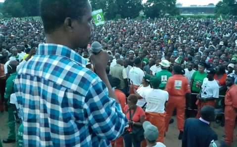 PF President Edgar Lungu brought Livingstone to a standstill as Chagwamania hit Southern province.
