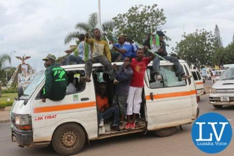 Some PF cadres spotted around Kabwe round about on Saturday afternoon  .. by Jean Mandela for Lusakavoice.com
