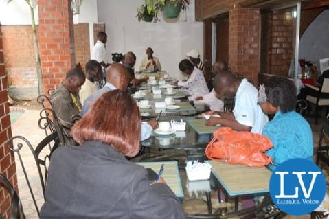the Zambian Voice CEO Chilufya Tayali addressing journalist at Lusaka Hotel on Sunday, January 18th, 2015  , by Jean Mandela for Lusakavoice.com
