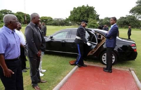 President Edgar Chagwa Lungu arrivs back in Zambia