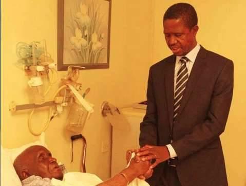 President Lungu prays for Dr Kaunda