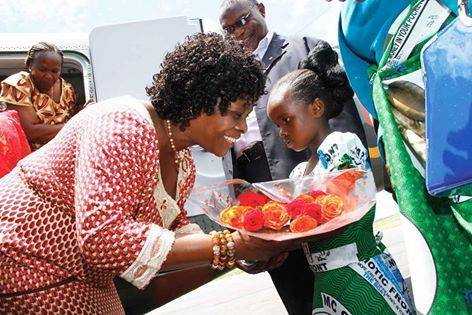 First Lady arrives in Mansa