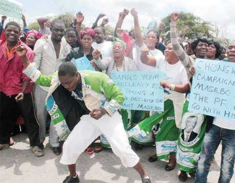 PF celebrates Masebo expulsion