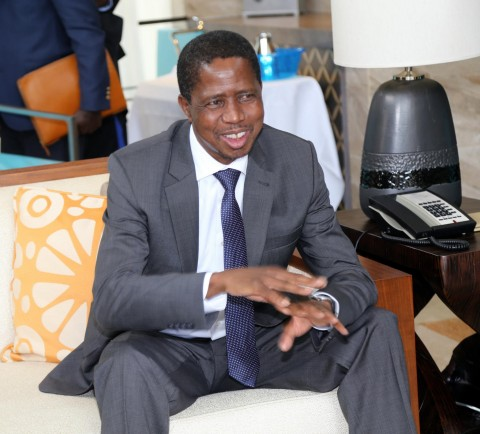 President Edgar Lungu at MGM Grand Hotel in Sanya on Friday 27-03-2015 -PICTURE BY EDDIE MWANALEZA/STATEHOUSE.