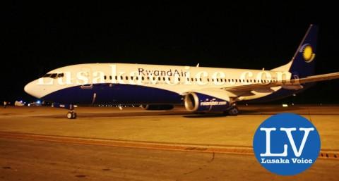 Rwandair made its maiden flight in Lusaka: Zambia when it landed at Kenneth Kaunda International Airport on 27th March 2015 - Photo Credit Jean Mandela - Lusakavoice.com
