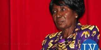 Vice-President Inonge Wina before a lecture at Columbia University on 11 March, 2015. PHOTO | CHIBAULA D. SILWAMBA | ZAMBIA UN MISSION - Photo Credit CHIBAULA D. SILWAMBA - Lusakavoice.com