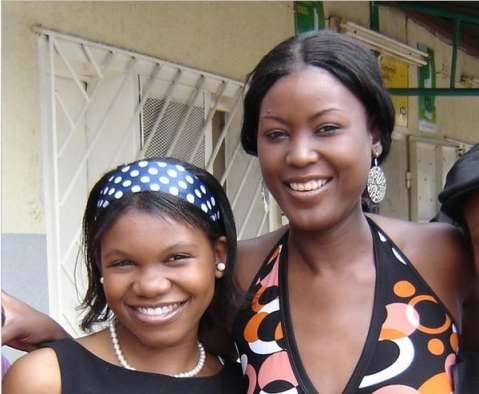 Violet Phiri (right) and her sister, Aduro BioTech research scientist Tamara Banda in January 2009.
