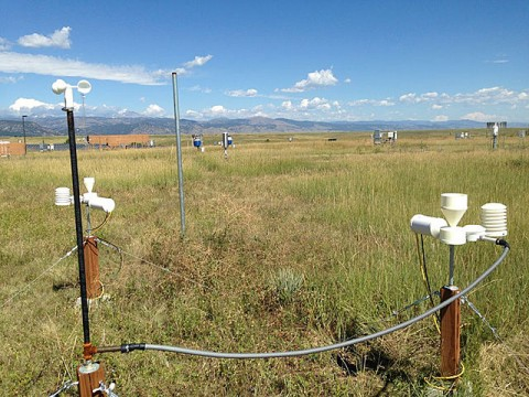 A 3-D-printed weather station is being tested in Colorado for future use in developing countries to help meteorological agencies to forecast weather-related disasters and save lives. (Photo/Kelly Sponberg, UCAR).