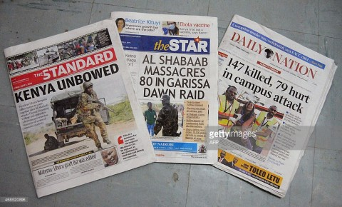KENYA-UNREST-NEWSPAPERS-PRESS - Getty images