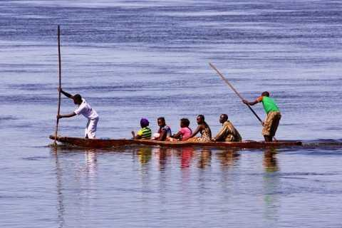 Local paddlemen provide a valuable service for goods and for people alike.  Moving swiftly with the current and slowly against it, transportees sometimes make multi-day trips in this manner.