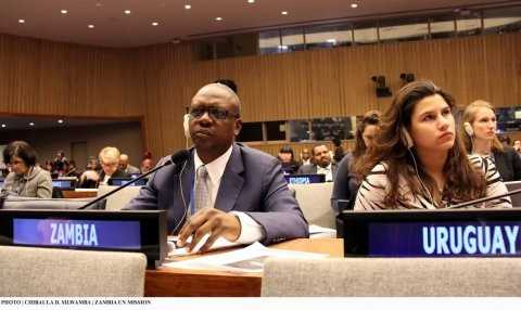 Ministry of Health Director Dr Reuben Kamoto-Mbewe during the 48th Session of the Commission on Population and Development at UN HQ 14-April-2015. PHOTO | CHIBAULA D. SILWAMBA | ZAMBIA UN MISSION