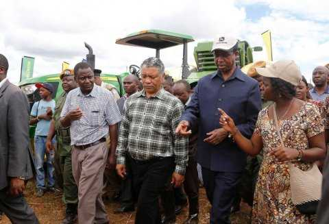 President Edgar Chagwa Lungu on April 18,2015, toured the Agritech Expo 2015 in Chisamba -Pictures by EDDIE MWANALEZA