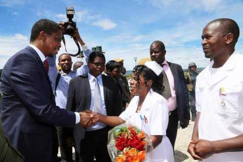 President Edgar Lungu on April 17,2015, Commissioned phase one of Micheal Chilufya Sata Hospital in Mpika- Pictures by EDDIE MWANALEZA