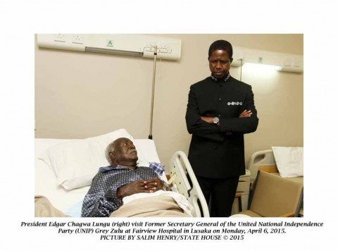 President Lungu visits Grey Zulu at Fairview Hospital in Lusaka -Pictures by SALIM HENRY