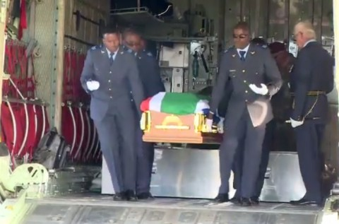 South African Air Force flight engineer Sergeant Masilo Modiba's body has been repatriated