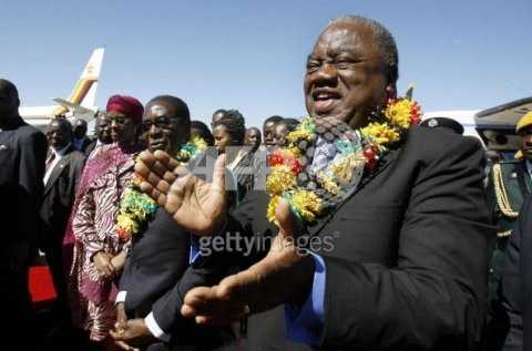 Zimbabwean President arrives in Bulawayo for the official opening of Zimbabwe International Trade Fair in Bulawayo on April 30, 2009