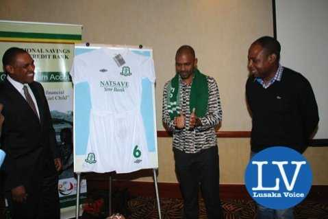 left to right-  NATSAVE Managing Director Cephas Chabu, Minister Vincent Mwale and FAZ President and ex Wanderers player Kalusha Bwalya    - Photo Credit Jean Mandela - Lusakavoice.com