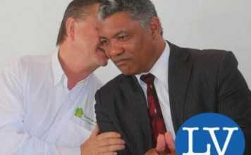 Peter Cottan and Hon Given Lubinda