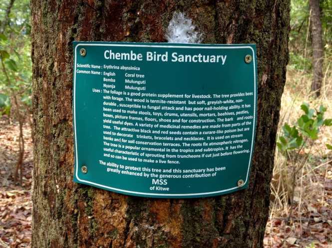 Chembe Bird Sanctuary, Kalulushi