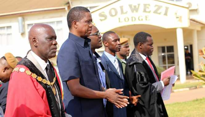 President Lungu in Solwezi