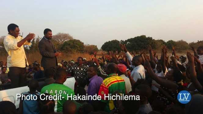 Hakainde Hichilema  interacts and mingles with fellow citizens along the way in Nyimba District on our way to Kulamba Tradition Ceremony of the Chewa Speaking people at His Royal Highness Paramount Chief Gawa Undi's Palace in Eastern Province