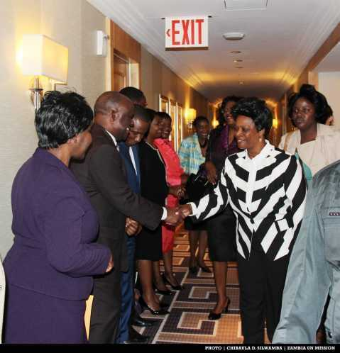 Permanent Mission of the Republic of Zambia to the United Nations Diplomatic staff - First Lady