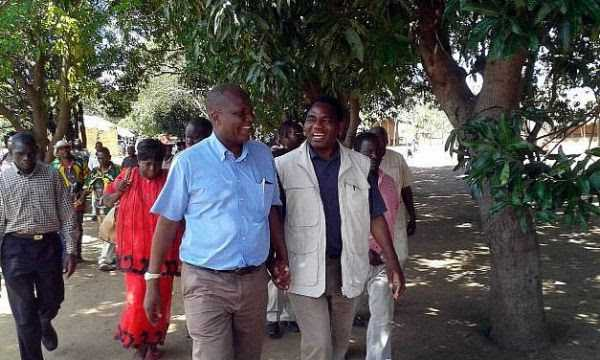 Felix Mutati with Hakainde Hichilema
