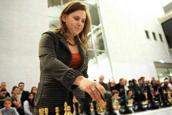 Hungarian chess champion Judit Polgar