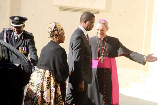 President Edgar Lungu at the Vatican