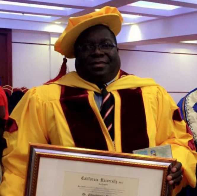 Honorary Doctorate - Doctor of Philosophy in Public Administration.