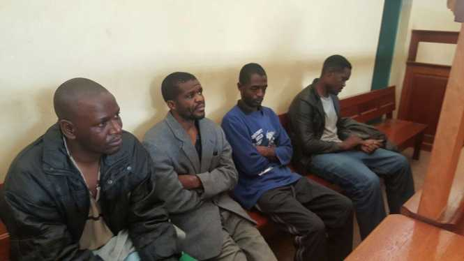 Luck Siame, Lewis Chishimba Bwalya, Christopher Kasapo and Elvis Nyanga.