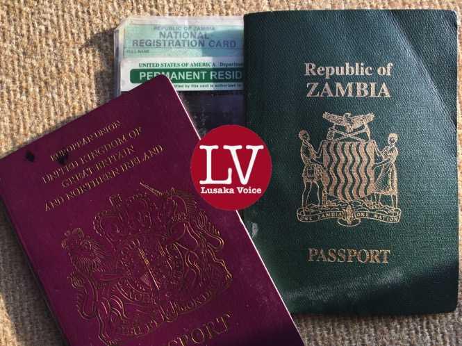 Zambia Dual Citizenship - credit Lusakavoice