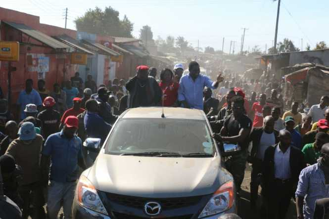 UPND Mandevu Constituency tour disrupted by unruly PF Cadres, June 16th 2016