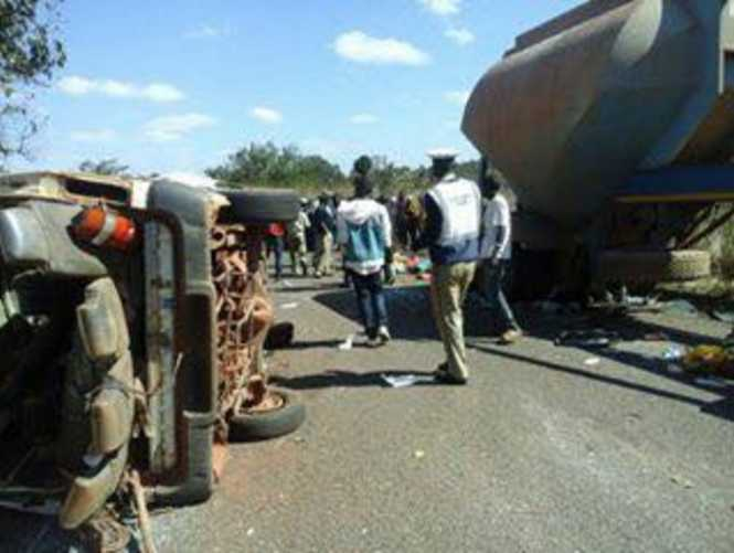 road traffic accident which happened around 12:50 hours on the Solwezi-Mutanda road near Mutanda Mission