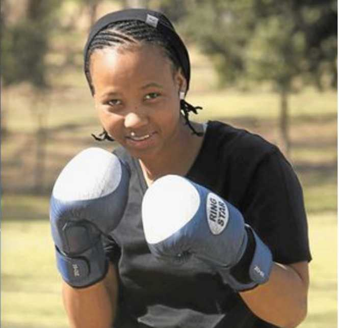 FIERCE FIGHTER: Gabisile Tshabalala is a junior featherweight champion. Picture by Mohau Mofokeng