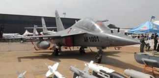Zambian Air Force's newly delivered L-15 Falcon fighter/trainer aircraft