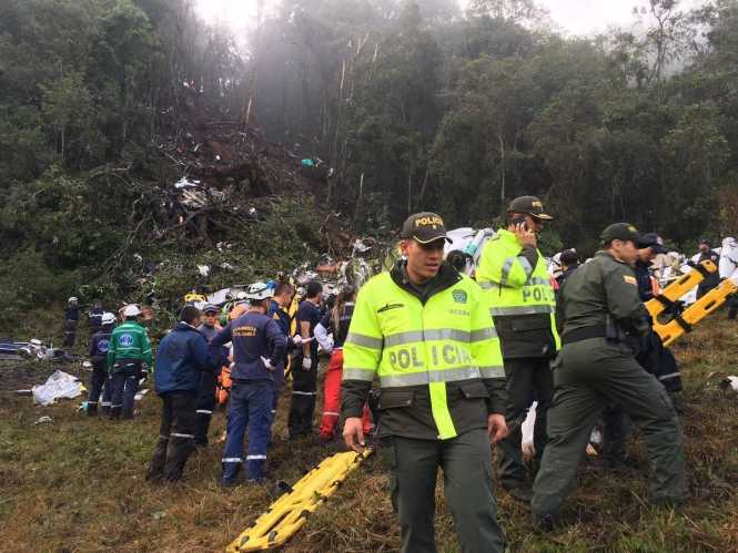 75 dead on Brazil soccer team's charter flight