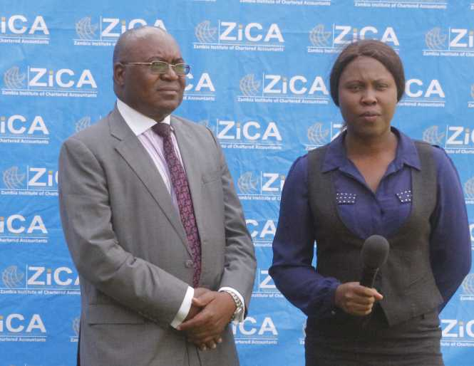 ZICA President Wesley Beene being interviewed by ZNBC journalist Inutu Himanje.