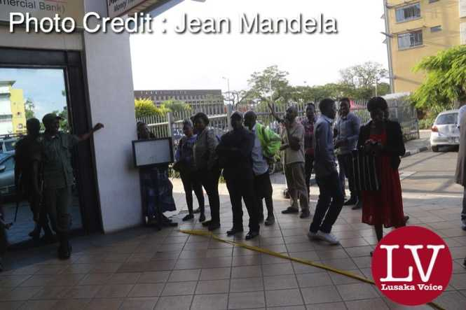 scores Intermarket Bank customers were spotted at its Central Park Branch as a word has gone around that the Intermarket Bank has been put under Bank of Zambia  receivership  as some senior banks employees were seen locking the doors without address anyone that were waiting outside