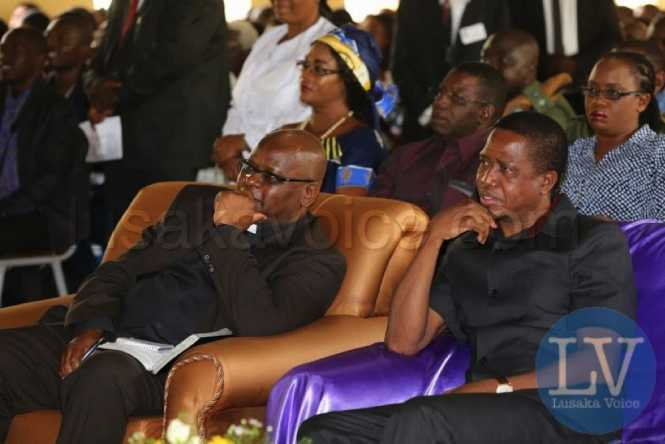 Edgar Lungu at the Reformed church of Zambia in Chipata.