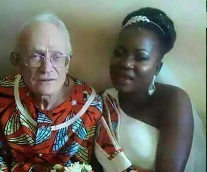 Charity Mumba insists that nonagenarian Peter Grooves is the love of her life - Credit THESun UK
